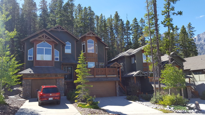 Our 'home' in Canmore....the one with our car in the drive.