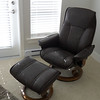 Wayne's new Stressless leather recliner - a gift from Marilyn for his 65th birthday.