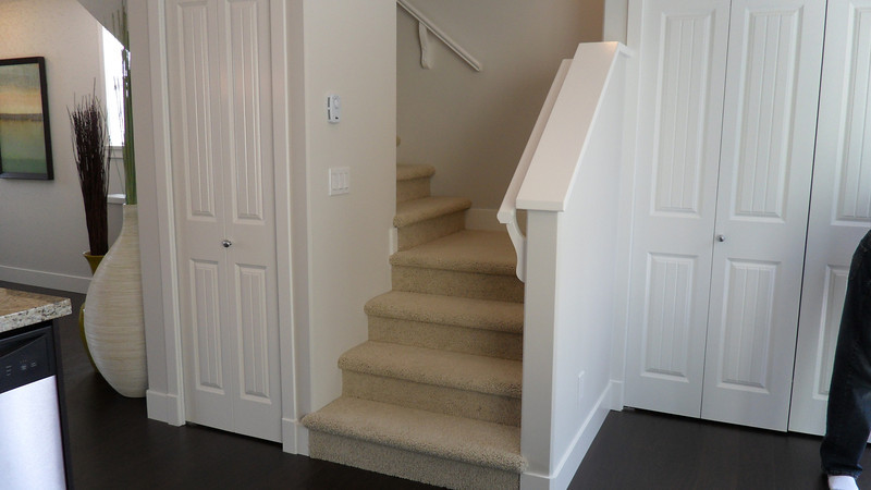 Stairs from kitchen to 3rd floor.