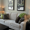 Living room setup in showhome.