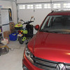 Plenty of room in the garage......for VW Tiguan and electric scooter....