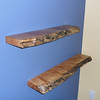 Natural floating shelves - custom made in Langley.