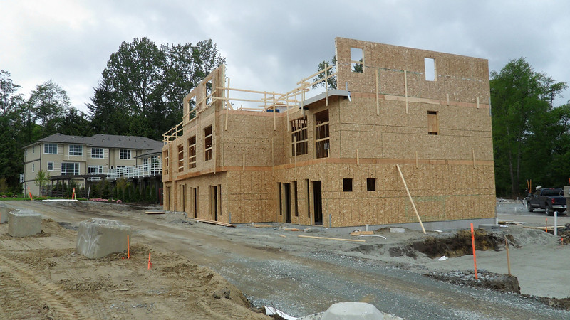Picture from unit # 6 back to showhome.