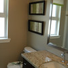 Ensuite bathroom with window.