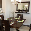 Dining room with counter to kitchen.