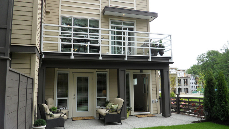 Kitchen deck on 2nd floor and patio off ground floor.