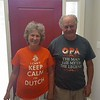The home-owners showing off their t-shirts from the local Dutch store in Parksville.