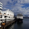 The 'Eurodam' berthed at Canada Place awaiting our embarkation.