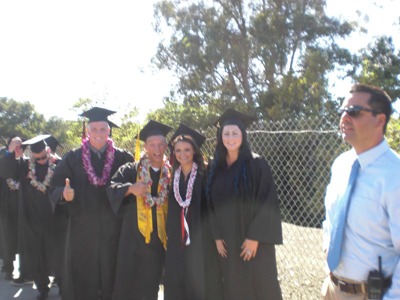 Graduation:  Josh Parker, Hunter Wood, Stephanie Stapleton, Kennedy, and Aaron Duron
