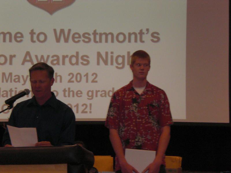 Brett announcing Nicky's award