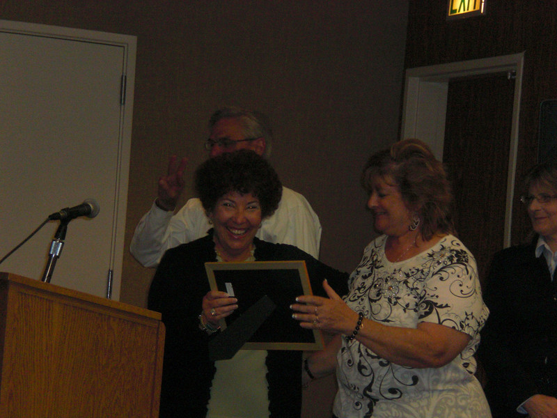 Supt. Rhonda Farber w/Randi  (Rick C. in back and Diane G at side)
