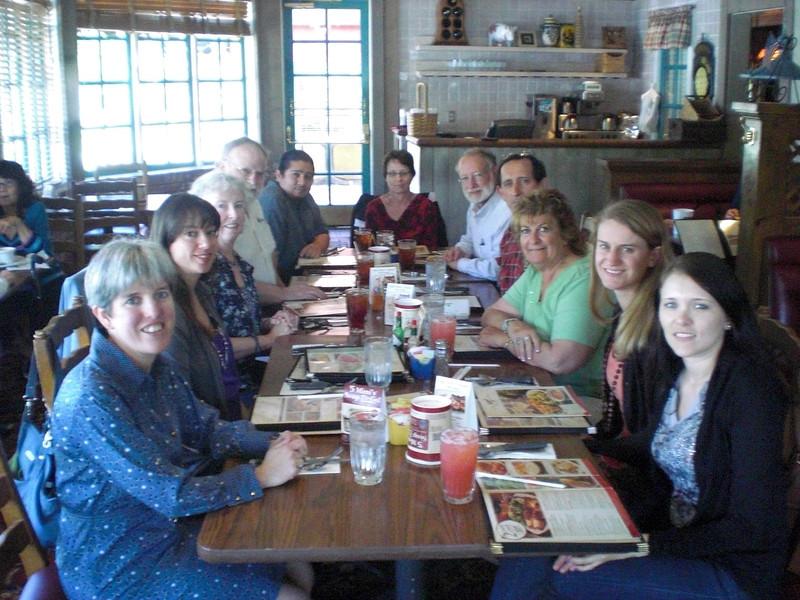 Math Dept. End of Year Lunch: Left-Wendy, Monica, Me, Bill, Alfonso, Marie, Bruce, Adrian, Randi, Lindsey, and Loredana