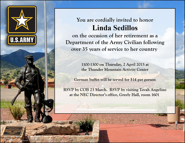 Retirement Invitation - Linda Sedillos