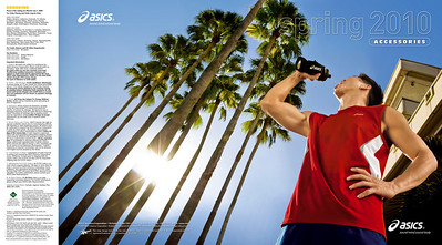 Asics 2010 Accessories Catalog Front and Back Cover
