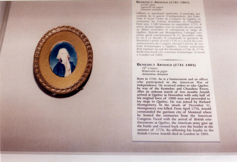 Miniature, supposedly of Benedict Arnold, on display in the museum