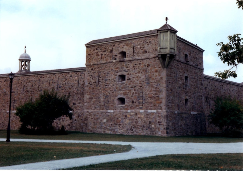 Outside view of the fort wall