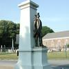 Statue of Gen. Poor in the adjacent intersection