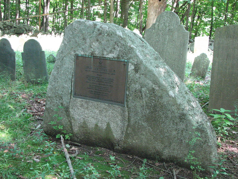 The monument placed at the grave by the Masons