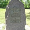 Monument honoring Gen. Thomas and other American soldiers buried in unmarked graves at Fort Chambly.
