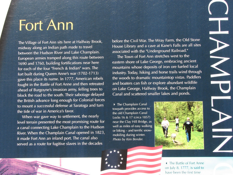 Interpretive panel in Fort Ann