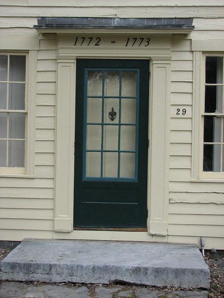 Detail of the front door