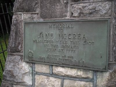 Plaque on the marker