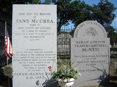 New gravestone of Jenny McCrea
