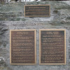 Closeup of the plaques about Rogers