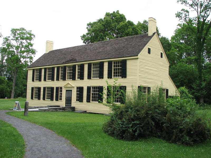 As the British withdrew after the Battle of Saratoga (a year after Arnold's visit), Burgoyne ordered Schuyler's house burned. Within 30 days, Schuyler had men at work rebuilding the house, and this is how it appears today.