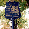 Historical marker at the street