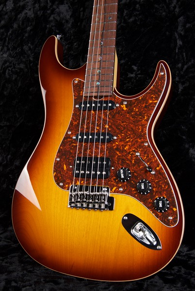 Retro Classic #3580, Tobacco Burst with scraped binding edge, Grosh 60's Fat/60's Fat/327 Humbucker pickups