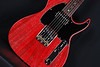 Don Grosh Retro Classic Hollow T in Deep Crimson Red with White Grainfill, TH Pickups