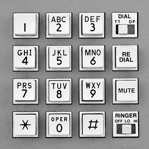 telephone touch tone keypad