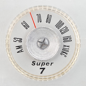 Super 7 portable radio dial