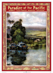 042: 'Looking Toward Mauna Kea From Waiakea in Hawaii' - Paradise of the Pacific Cover, November 1928.