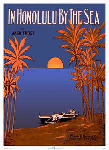 048: 'In Honolulu By The Sea' - Hawaiian music cover, ca. 1917 - View this image applied to multiple products at http://www.cafepress.com/hawaiiandays/1216684