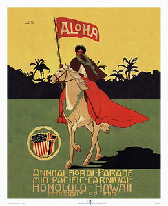 037: Mid Pacific Carnival Festival Poster from 1910.