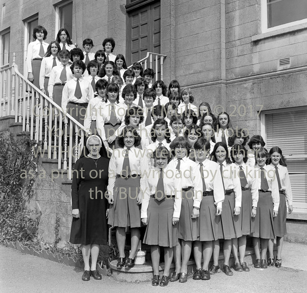 Pupils from St Mary's College, Arklow.  Circa 1980