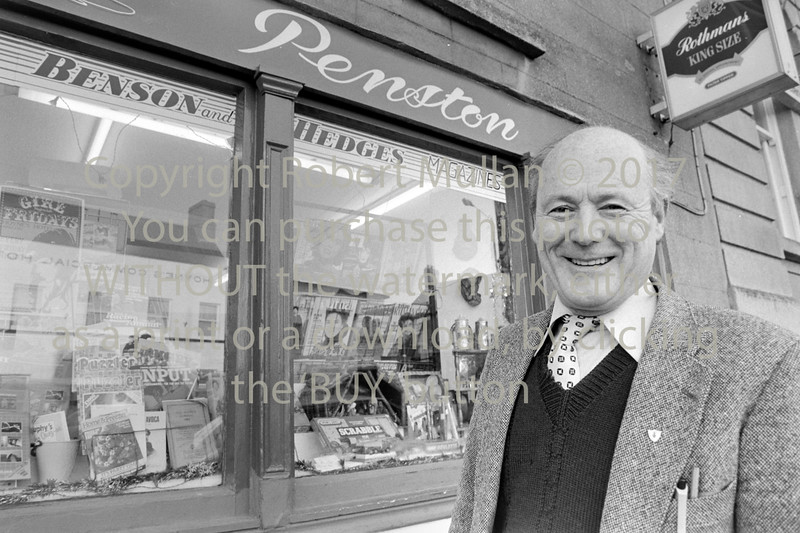 Jimmy Dunne is pictured outside Penston's shop on Arklow's Main Street, just after he took over the long-established newsagents.  Date unknown