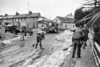 Clearing up at Abbeyville/Abbey Street, Arklow after a heavy snowfall.  Circa 1986