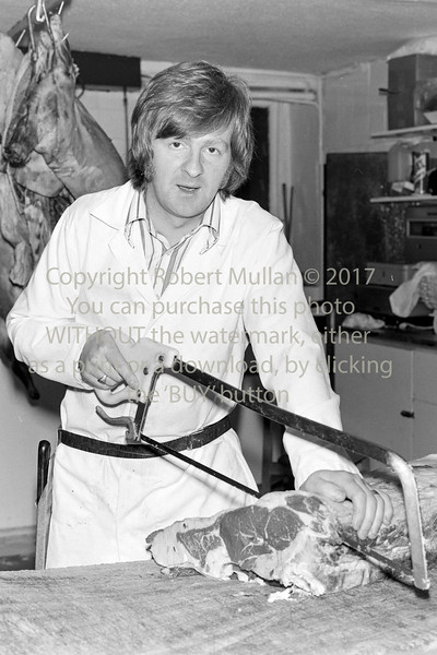 Oliver Merrigan in his shop on Main St, Arklow.  Circa 1980