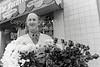 Florist PJ Dowling outside his Main St shop, 'The Forgetmenot'. Circa 1980s