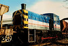NSE 03179 palts with the shadows whilst stabled on Ryde depot on the Isle of Wight on 4 March 1990. She was later transferred back to the mainland and operates for FCC at Hornsey Depot in North London.