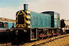 03079 stands on Ryde depot on the Isle of Wight on 4 March 1990. She is now preserved at the Derwent Valley Railway.