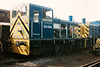 A part dismantled 03099 at SYR Meadowhall on 27 April 1996. She was eventually destined for Peak Rail and the Heritage Shunters Trust.