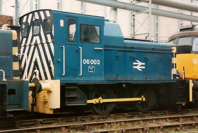 Seen at the SYR Meadowhall on 27 April 1996, 06003 was also numbered 97804 when used at Reading Signal Works in the early 1980's
