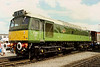25321/D7671 looking the part in two tone green at Coalvile open day on 11 June 1989.