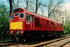 Red rat on the loose as 25035 CASTELL DINAS BRAN is seen at Pitsford on the Northampton & Lamport Railway on 10 May 1997.