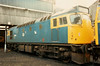 27049 sits on Eastfield TMD on 14 March 1987. Withdrawal came the following month with scrapping taking place in 1988.