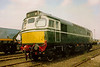 27059 / D5410 seen in lined green at the Bescot open day of 6 June 1990. She is preserved and not far away from this view at the Severn Valley Railway.